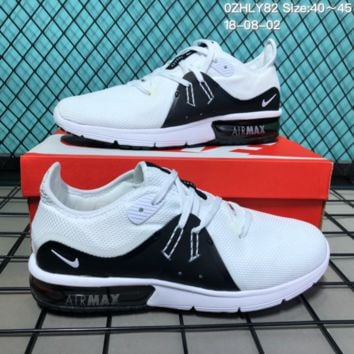 DCCK2 N207 Nike Air Zoom Suquent 3 Flyknit Cushion Breathable Running Shoes White Black