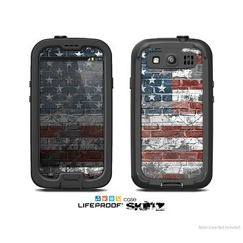 The Vintage USA Flag Skin For The Samsung Galaxy S3 LifeProof Case