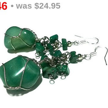 STOREWIDE SALE! Apatite Earrings Sterling Silver Earrings Wire Wrapped Earrings Gemstone Earrings Apatite Jewelry Gemstone Jewelry Gifts ...