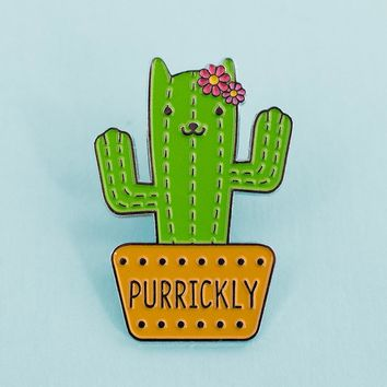 Cat Cactus Enamel Pin
