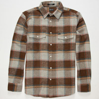 Matix Perkins Mens Flannel Shirt Grey  In Sizes