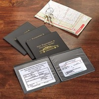 Car Document Insurance Car Registration Holder GloveBox Organizer Wallet Set