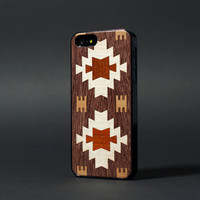 Ethnic - Apple iPhone 5 iPhone 4  Sony Xperia Samsung Galaxy Real Wood Black Transparent Case hard case