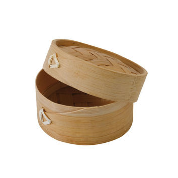 Case - Mini Bamboo Steamer with Lid DIM SUM 3.9 in