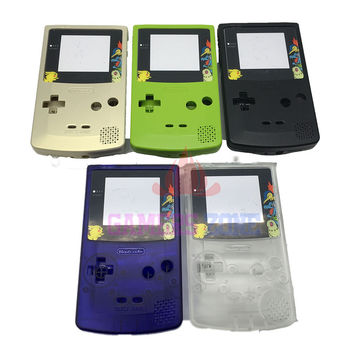 For Game Boy Gameboy Color GBC Shell Case Housing w Screen For Pikachu Limited Edition
