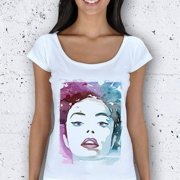 Color Beauty Women Wide Collar T-Shirt / Special Production (Limited Edition)