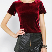 Urban Outfitters - Glamorous Velvet Cropped Top