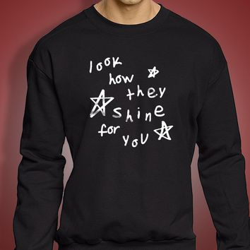 Hipster Clothes Look How They Shine For You Womens Loose Fit  Urban Grunge Men'S Sweatshirt