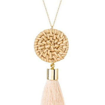 Worth The Tassel Necklace