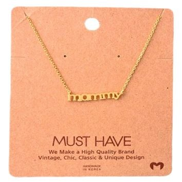 Must Have-Mommy NeckLace, Gold
