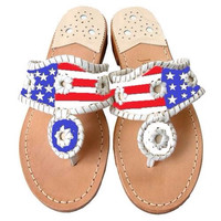 Hand Painted American Flag Fake Jack Rogers