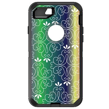 DistinctInk™ OtterBox Defender Series Case for Apple iPhone / Samsung Galaxy / Google Pixel - Purple Green Blue Yellow Pink Gradient