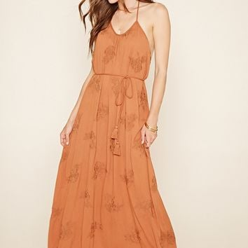 Contemporary Halter Maxi Dress