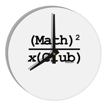 "Math Club 8"" Round Wall Clock  by TooLoud"
