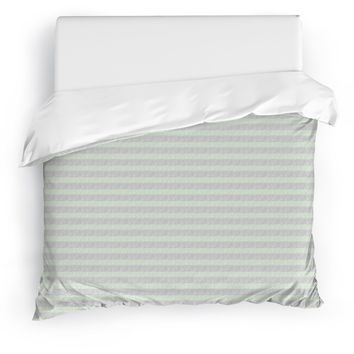 FLAPPER GREEN Duvet Cover By Tiffany Wong