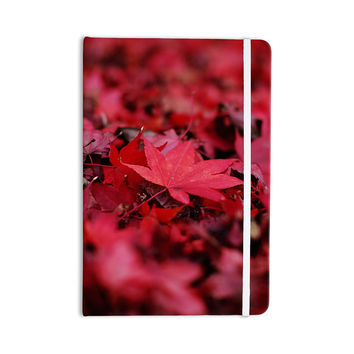 "Angie Turner ""Red Leaves"" Maroon Leaf Everything Notebook"