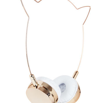 Zara Martin Rose Gold Kitty Headphones