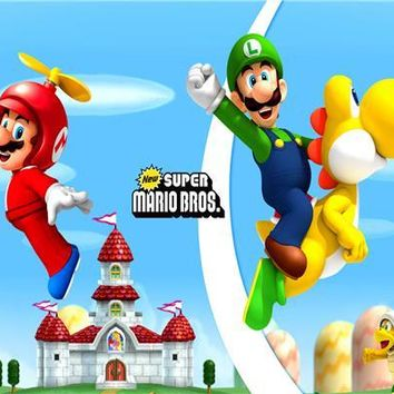 Super Mario party nes switch Custom Canvas Art  Poster  Bros Wall Stickers  Luigi Wallpaper Video Game Mural Bedroom Decor #483# AT_80_8