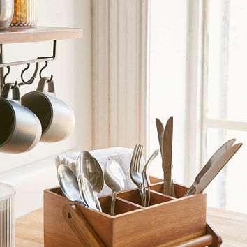 Bamboo Utensil Caddy - Urban Outfitters