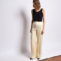Vintage 1970s Satin Pinstripe Trousers