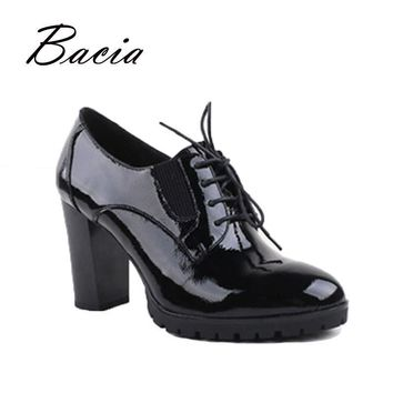 Bacia - genuine leather, patent leather high heels women pumps, 9cm sexy high-heels fo
