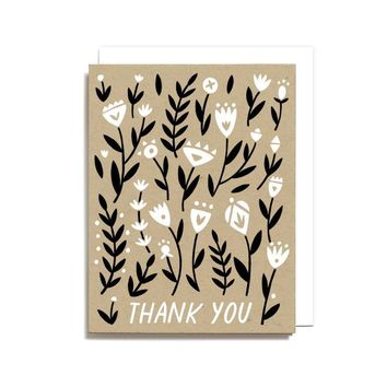 Worthwhile Paper - Thank You Floral Pattern Card