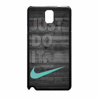 Nike Mint Just Do It Wooden Gray Samsung Galaxy Note 3 Case