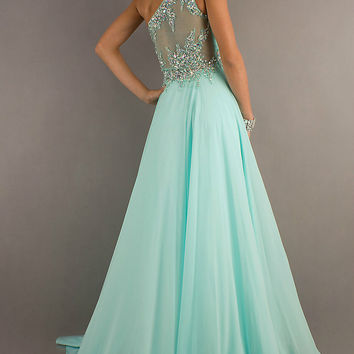 Mint Beaded Party/Prom/Evening/Pageant/Cocktail dress/Ball gown/SZ 6 8 10 12 14