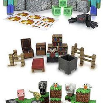 Set Of 3 Minecraft Papercraft Hostile Mobs, Utility Pack, Animal Mobs,Zombie,Pig