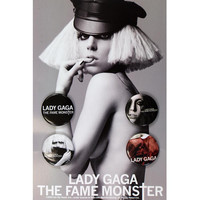 Lady Gaga - Fame Monster 4 Pc Button Set