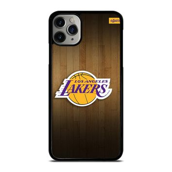 LA LAKERS BASKETBALL WOODEN iPhone Case Cover