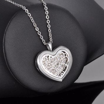 Stainless Heart Essential Oil Diffuser Necklace