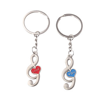 New Arrival Gift Creative Functional Hot Sale Trendy Great Deal Couple Music Keychain [11496561103]