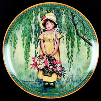 "1986 Knowles Collector Plate ""Easter"" Jessie Wilcox Smith Bradex Plate No. 84-k41-221"