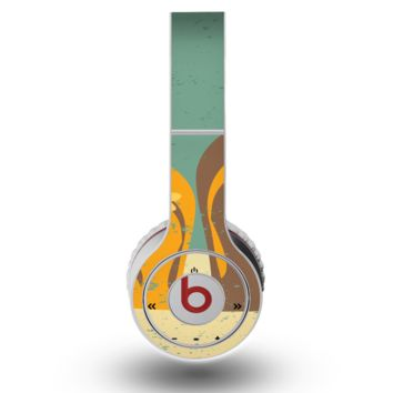 The Vintage His & Her Flip Flops Beach Scene Skin for the Original Beats by Dre Wireless Headphones