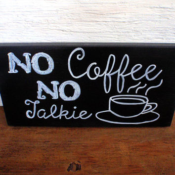 Wood coffee sign-Kitchen coffee sign-Coffee sign-Wooden coffee sign-Coffee bar sign-Hand painted coffee sign-Funny coffee sign