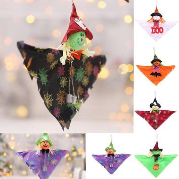Halloween Pendant Plush Toy Doll Witch Pumpkin Doll Soft Doll Bell+cloak Hanging