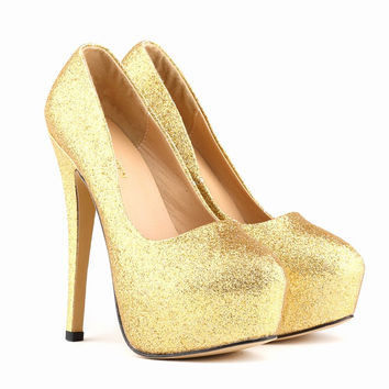 Flash Material Sexy Club High Heel Shoes