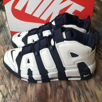 NIKE AIR MORE UPTEMPO OLYMPIC 2016 USA Navy Blue White (414962-104)