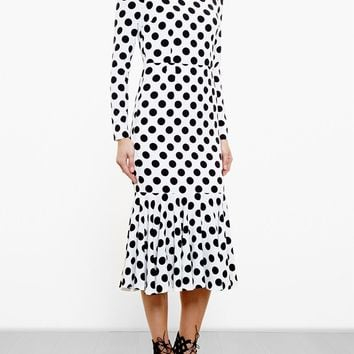 Dolce & Gabbana Polka Dot Crepe Dress - Browns - Farfetch.com