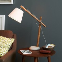 Adjustable Wood Task Lamp