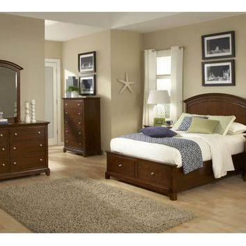 2880 Impressions - Complete Panel Bed With Storage Footboard - Full