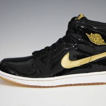 Nike Air Jordan 1 Retro Black/Metallic Gold