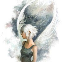 """White Angel"" - Art Print by Jason Chan"