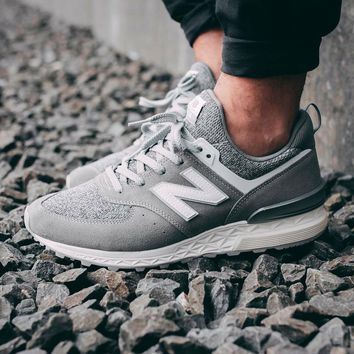 spbest New Balance 574 Sport Suede Pack 'Grey with White'