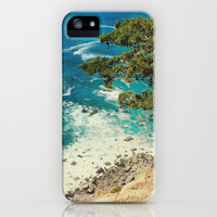 Big Sur - Sapphire Shore iPhone & iPod Case by Jenndalyn