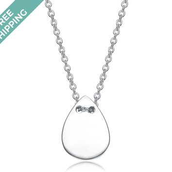kiz&Co Sterling Silver Teardrop Necklace