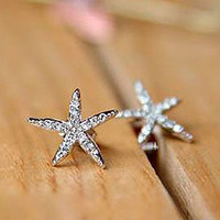 Starfish Mermaid Earrings