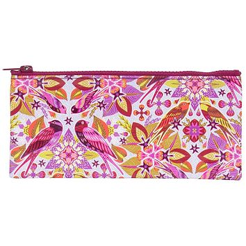 Six And A Half Birds Pencil Case in Pink and Purple