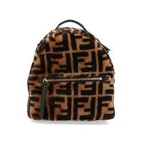 Shearling Fur Backpack by Fendi